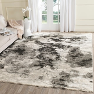 Safavieh Retro Modern Abstract Cream/ Grey Distressed Rug (8'9 x 12')