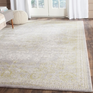 Safavieh Passion Watercolor Vintage Grey / Green Rug (9' x 12')