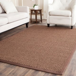 Safavieh Casual Natural Fiber Handmade Chocolate Jute Rug (9' x 12')