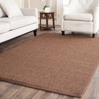 Safavieh Casual Natural Fiber Handmade Chocolate Jute Rug - 9' x 12'