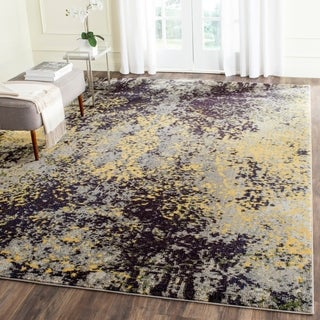 Safavieh Monaco Modern Abstract Grey/ Multi Rug (9' x 12')