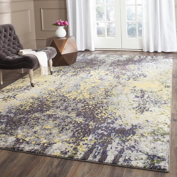 Safavieh Monaco Abstract Vintage Grey Multi Distressed Rug 9 X 12 Free Shipping Today