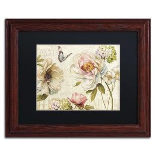 Lisa Audit 'Marche de Fleurs IV' Black Matte, Wood Framed Wall Art
