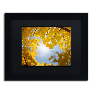 Philippe Sainte-Laudy 'Ginkgo Leaves in Autumn' Black Matte, Black Framed Wall Art