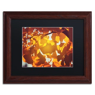 Philippe Sainte-Laudy 'Ginkgo Leaves' Black Matte, Wood Framed Wall Art