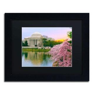 CATeyes 'Cherry Blossoms 2014-6' Black Matte, Black Framed Wall Art