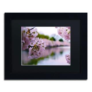 CATeyes 'Cherry Blossoms 2014-2' Black Matte, Black Framed Wall Art