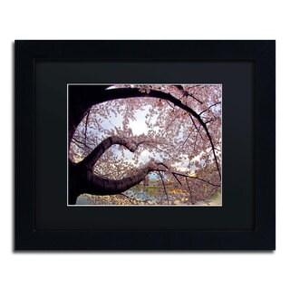 CATeyes 'Cherry Blossoms 2014-1' Black Matte, Black Framed Wall Art