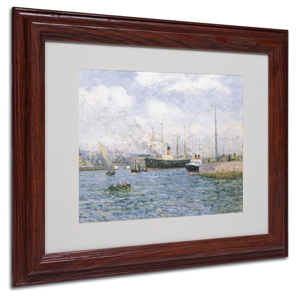 Maxime Maufra 'Departure from Havre 1905' White Matte, Wood Framed Wall Art