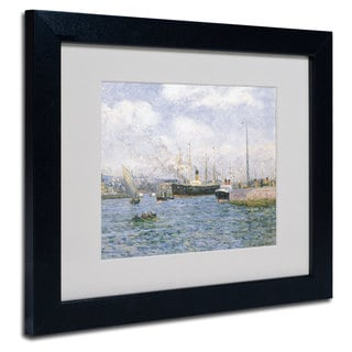 Maxime Maufra 'Departure from Havre 1905' White Matte, Black Framed Wall Art