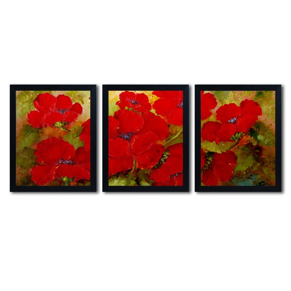 rio poppies multi framed wall art art set