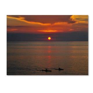 Kurt Shaffer 'Sunset Paddle' Canvas Art