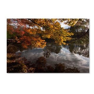 Kurt Shaffer 'Kendal Lake Autumn' Canvas Art