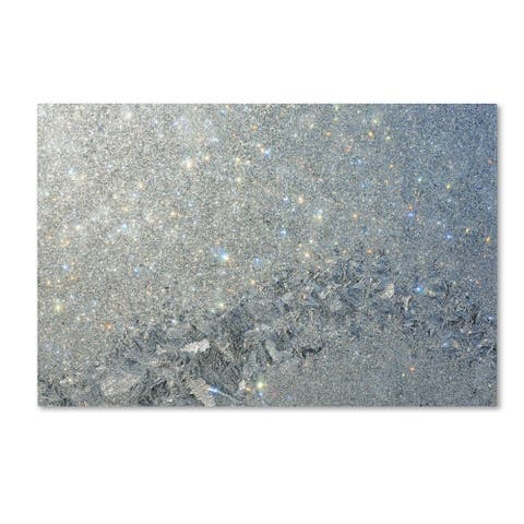 Kurt Shaffer 'Frost Pattern Sun Stars' Canvas Art - Multi