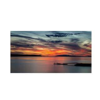 Pierre Leclerc 'Sunset Pier' Canvas Art