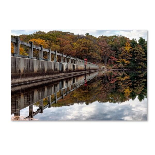 David Ayash 'New York in Fall' Canvas Art - Multi