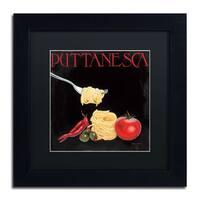 Marco Fabiano 'Italian Cuisine I' Black Matte, Black Framed Wall Art