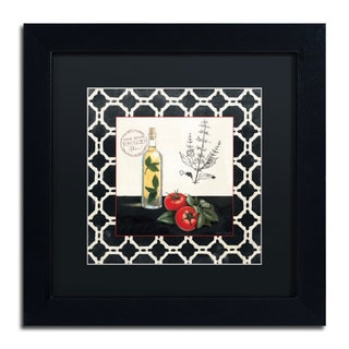 Marco Fabiano 'Basil and Tomatoes' Black Matte, Black Framed Wall Art