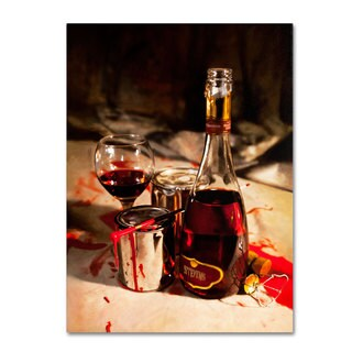 Roderick Stevens 'Red Label Wine' Canvas Art