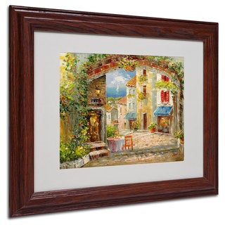 Rio 'Capri Isle' White Matte, Wood Framed Wall Art