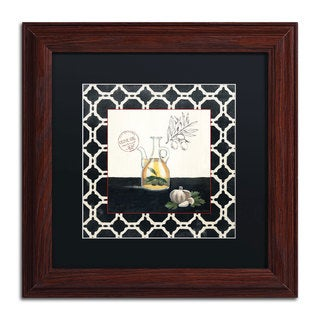 Marco Fabiano 'Olive Oil and Garlic' Black Matte, Wood Framed Wall Art