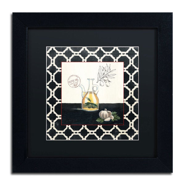 Marco Fabiano 'Olive Oil and Garlic' Black Matte, Black Framed Wall Art