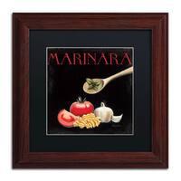Marco Fabiano 'Italian Cuisine IV' Black Matte, Wood Framed Wall Art