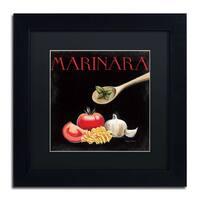 Marco Fabiano 'Italian Cuisine IV' Black Matte, Black Framed Wall Art