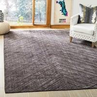 Safavieh Handmade Mirage Modern Charcoal Wool/ Viscose Rug - 9' x 12'