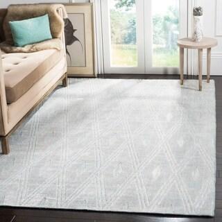 Safavieh Handmade Mirage Modern Grey Wool/ Viscose Rug (9' x 12')