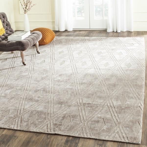 Safavieh Handmade Mirage Modern Grey Wool/ Viscose Rug - 9' x 12'
