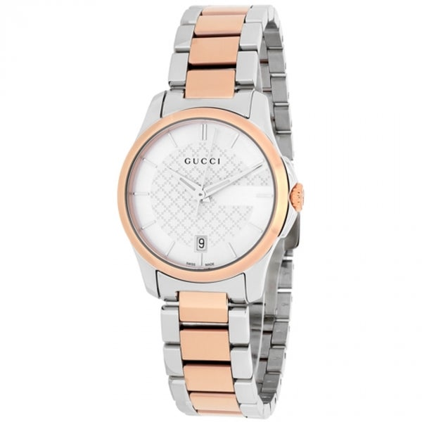 5c6b76274a4 Shop Gucci Women s G-Timeless Round Two-tone Stainless Steel Bracelet Watch  - Free Shipping Today - Overstock - 10465234