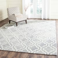 Safavieh Handmade Dip Dye Watercolor Vintage Grey/ Ivory Wool Rug (9' x 12')