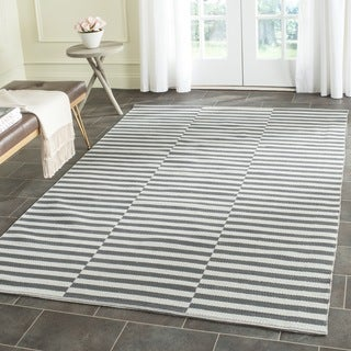 Safavieh Hand-Woven Montauk Ivory/ Grey Cotton Rug (5' x 7')