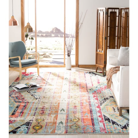 Safavieh Monaco Vintage Bohemian Multicolored Distressed Rug - 6'7 x 9'2