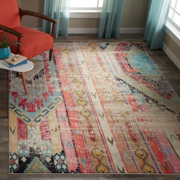 Safavieh Monaco Vintage Bohemian Multicolored Distressed Rug (6'7 x 9'2)