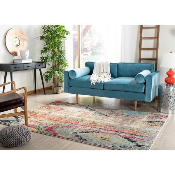 Safavieh Monaco Vintage Boho Multicolored Distressed Rug - multi - 6'7 x 9'2