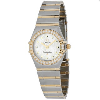 Omega Women's O1365.71 Constellation Round Two-tone Stainless Steel Bracelet Watch