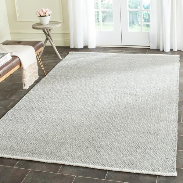 Safavieh Hand-Tufted Boston Grey Cotton Rug - 9' x 12'