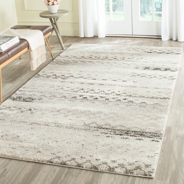 Safavieh Retro Modern Abstract Cream/ Grey Distressed Area Rug - 8'9 x 12'