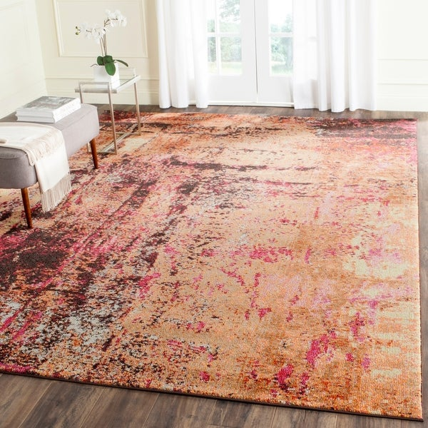 Safavieh Monaco Abstract Multicolored Distressed Rug - multi - 9' x 12'