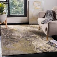 Safavieh Monaco Modern Abstract Ivory / Grey Distressed Rug - 9' x 12'