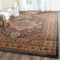 Safavieh Mahal Traditional Grandeur Navy/ Natural Rug - 9' x 12'