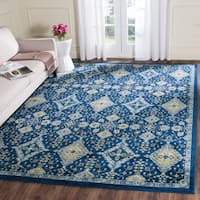 Safavieh Evoke Vintage Royal Blue/ Ivory Distressed Rug - 9' x 12'
