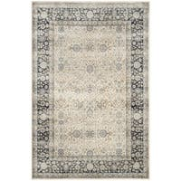 Safavieh Persian Garden Vintage Ivory/ Navy Distressed Silky Viscose Rug - 8' x 11'