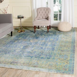Safavieh Valencia Blue Multi Distressed Silky Polyester Rug 8 X 10