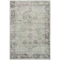 Safavieh Vintage Oriental Grey/ Amethyst Distressed Silky Viscose Rug - 6'7 x 9'2