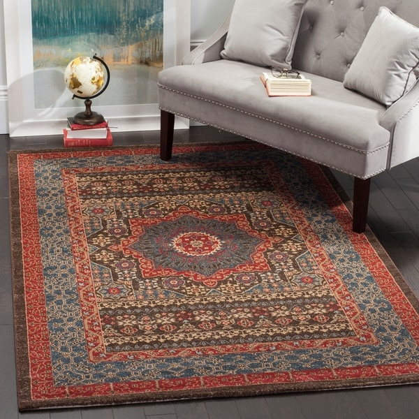 shop safavieh mahal navy red rug 6 7 x 9 2 free shipping today