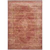 Safavieh Vintage Oriental Rust Distressed Silky Viscose Rug - 6'7 x 9'2