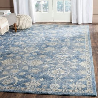 Safavieh Sofia Vintage Oriental Blue/ Beige Distressed Rug (6'7 x 9'2)